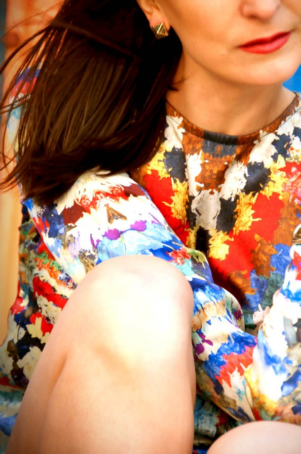 bright print dress, how to style printed dress, australian fashion blog