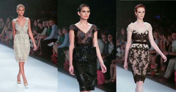 colette dinnigan, lmff 2012, harpers bazaar runway 7, dresses in lace