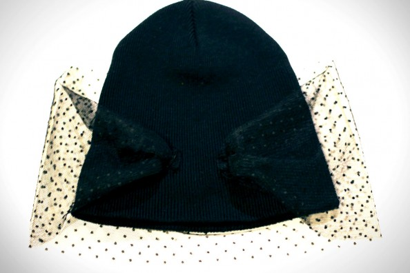 diy veiled beanie jil sander, fashion diy blog
