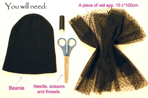 how to make veiled beanie, jils sander beanie diy, sydney fashion blog