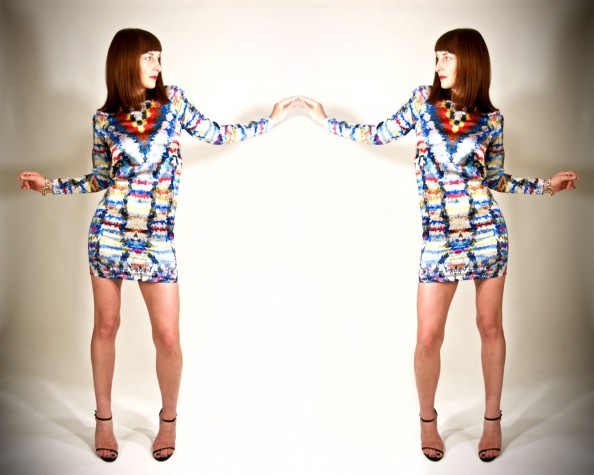 mirror print dress, romance was born, how to style printed mini dress, electric blue, crashingred, fashion blog sydney 1