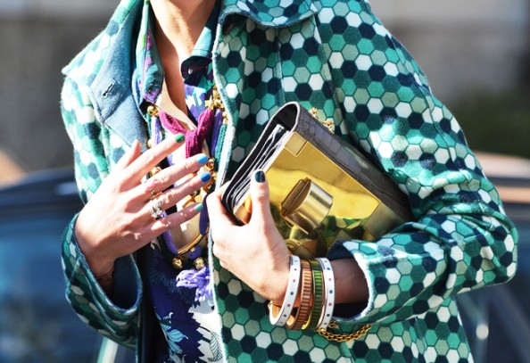 tommy ton - nails and bag, paris fashion week, pretty nails, new trend
