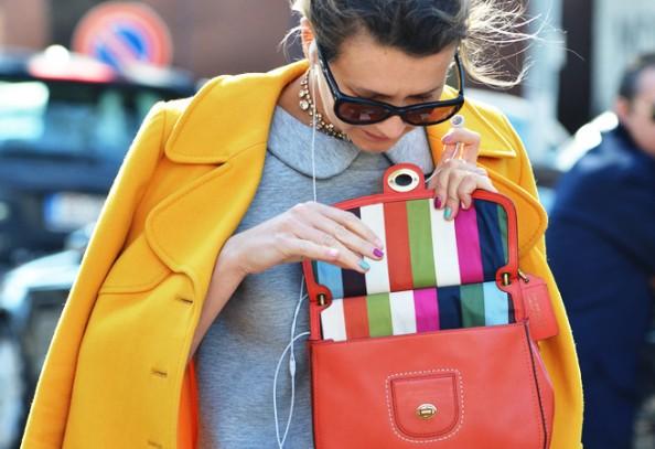 tommy ton - nails and bag, paris fashion week, pretty nails