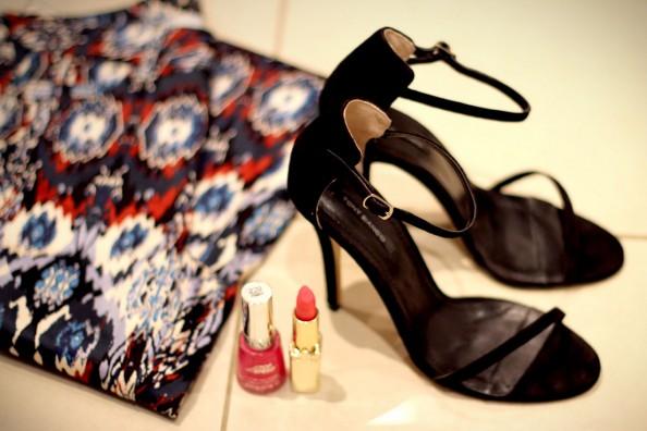 toni bianco karissa heels, zara printed jeans, electric pink lipstick, spring fashion 2012, sydney blogger 2
