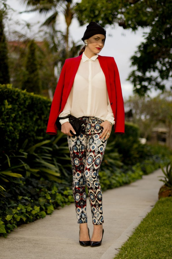 how to wear printed pants, chic style, sydney blog