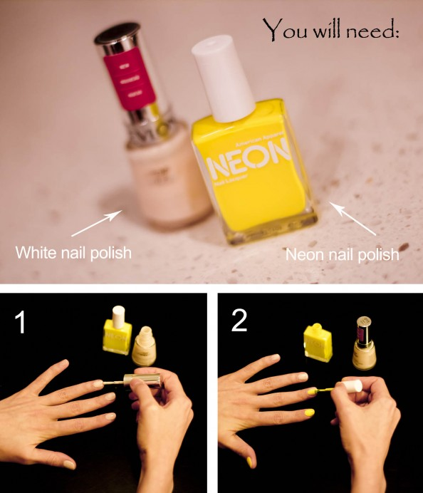 neon nails how to, how to get perfect neon nails, DIY neon nails
