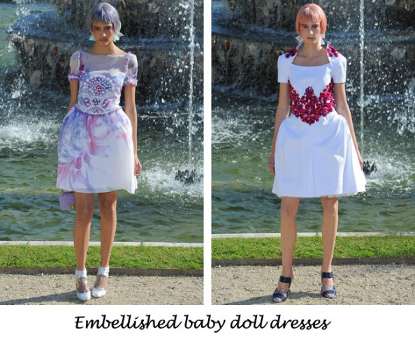 Chanel resort 2012 embellished baby doll dress