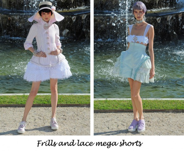 Chanel resort 2013 frills and lace shorts