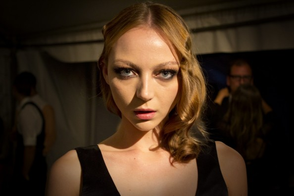 Louise Van De Vorst at Johanna johnson makeup and nails mbfwa 2012