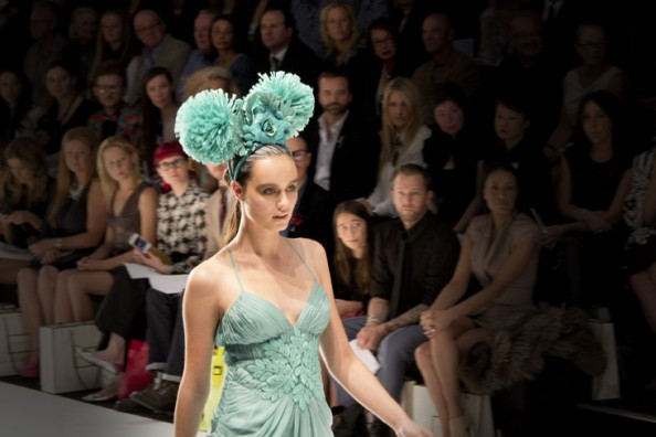 aurelio costarella headpiece mbfwa 2012 show
