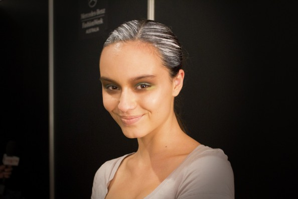 backstage at aurelio costarella beauty mbfwa 2012