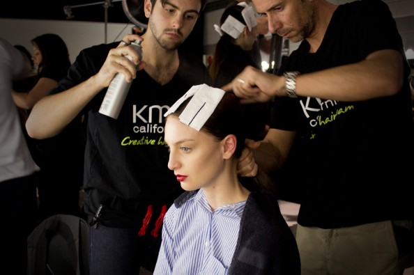 backstage at gary bigeni beauty mbfwa 2012