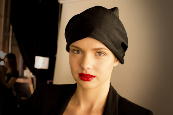 backstage at gary bigeni makeup beauty report mbfwa 2012