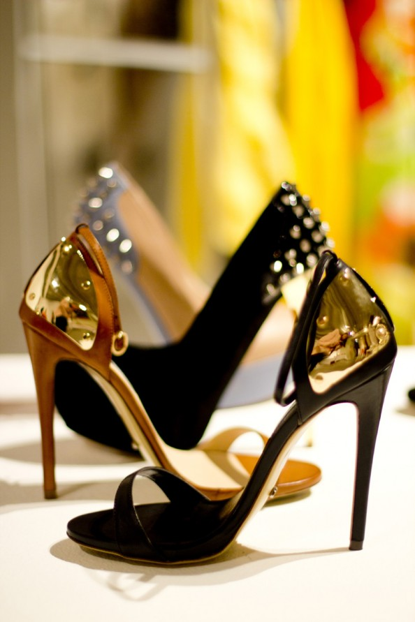black heels with gold plates tony bianco shoes 2012 collection