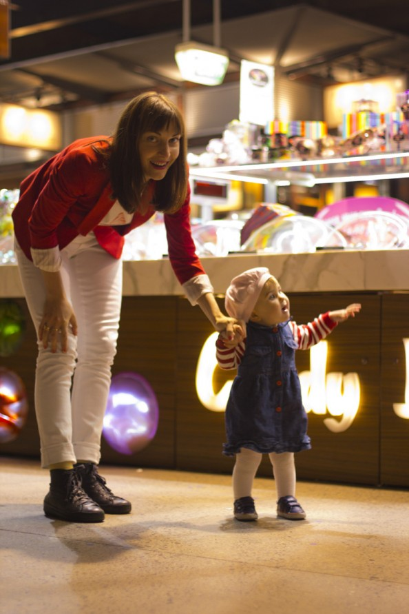 young mum and a baby in a shop