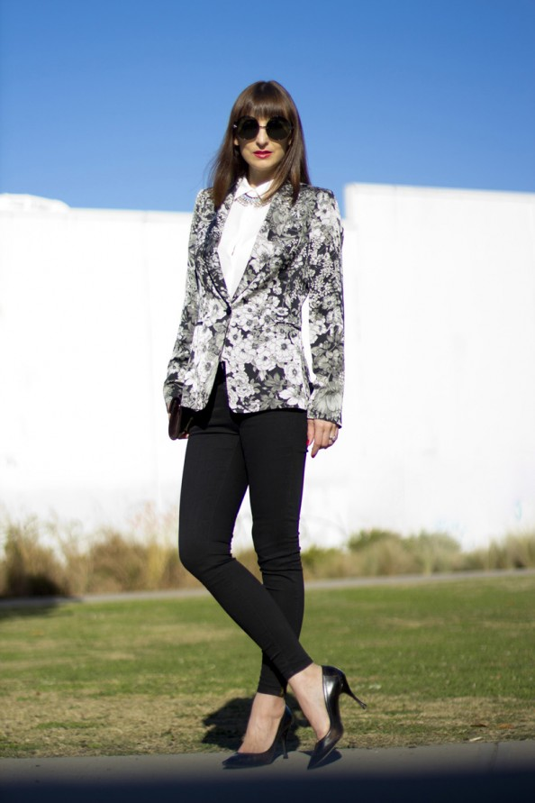 zara floral jacket chic style