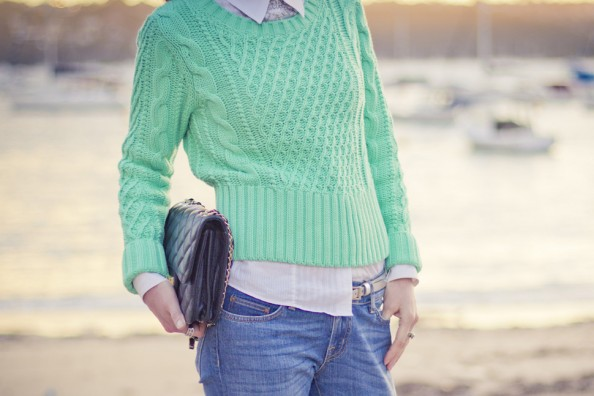 acne mint knit