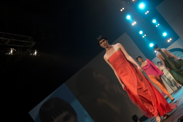 carl kapp 2012 red dress and black hair