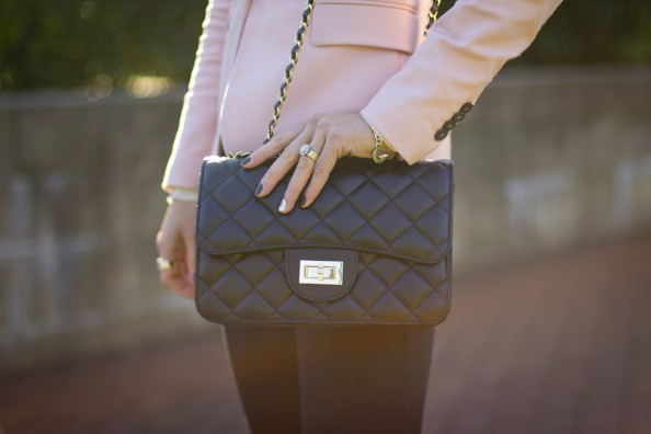 chanel quilted flap over bag