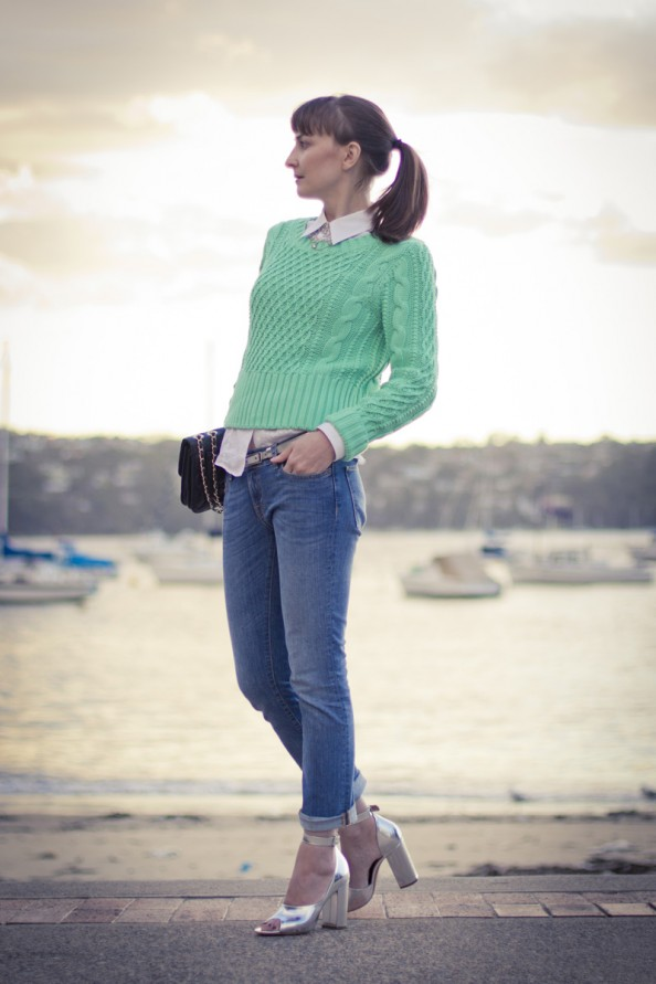 how to style mint knit