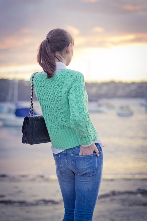 mint knit and chanel bag