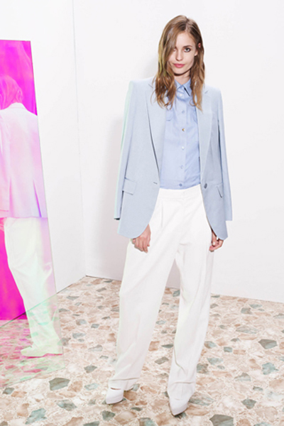stella mccartney blue and white suit