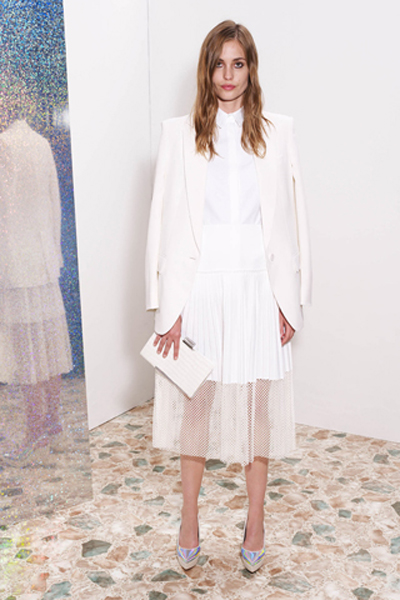 stella mccartney resort 2013 all white look