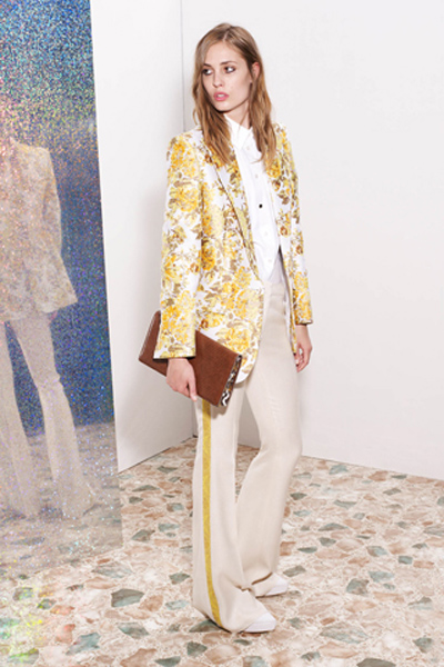stella mccartney resort 2013 floral jacket with tuxedo pants