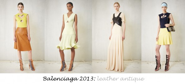 balenciaga resort 2013 summer fashion trends