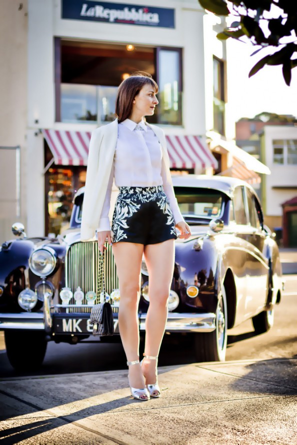 the great gatsby style, high waisted shorts