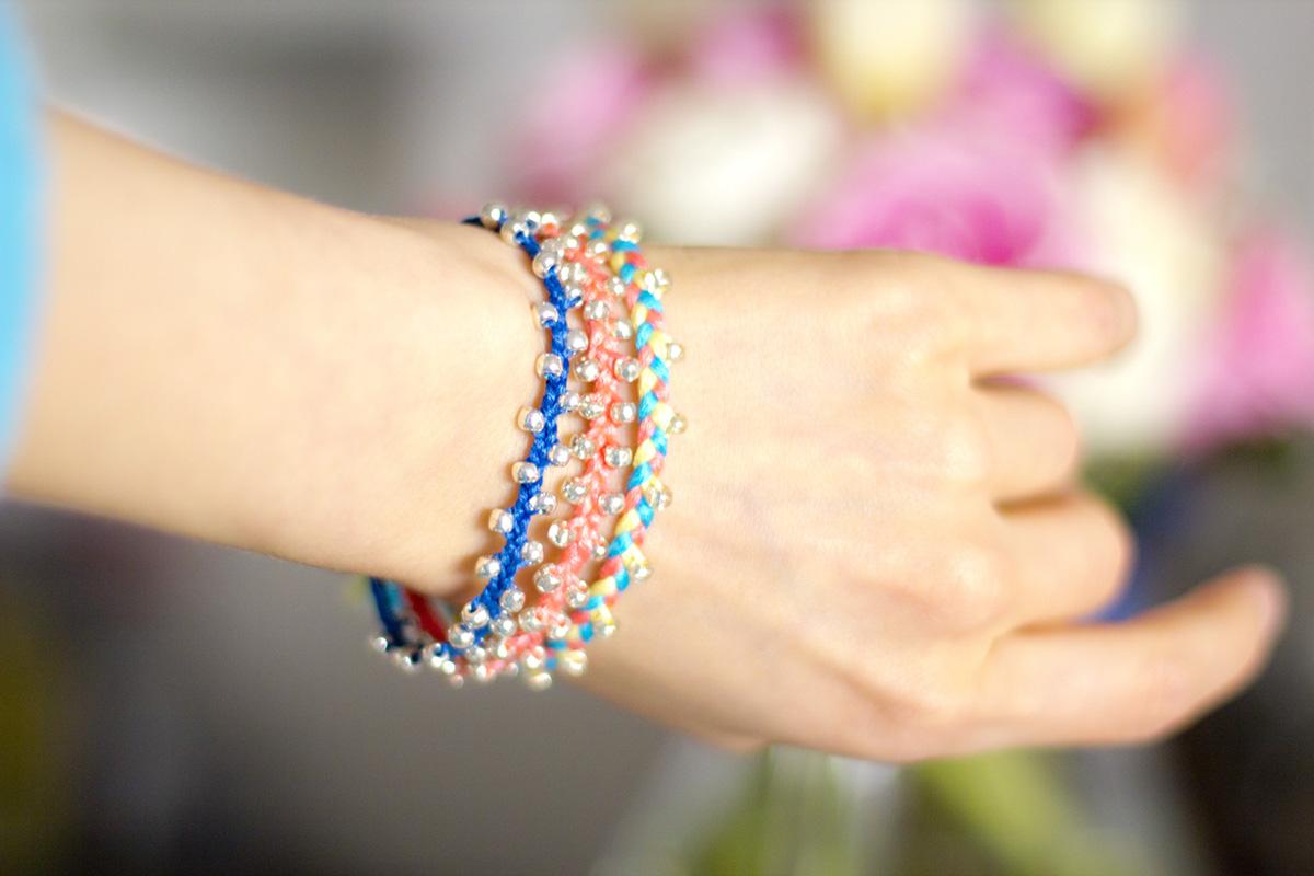 crashingred diy braided bracelet with beads crashingred. Black Bedroom Furniture Sets. Home Design Ideas
