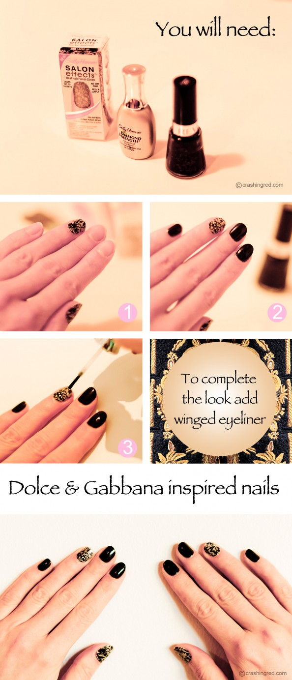 Dolce & Gabbana nails how to