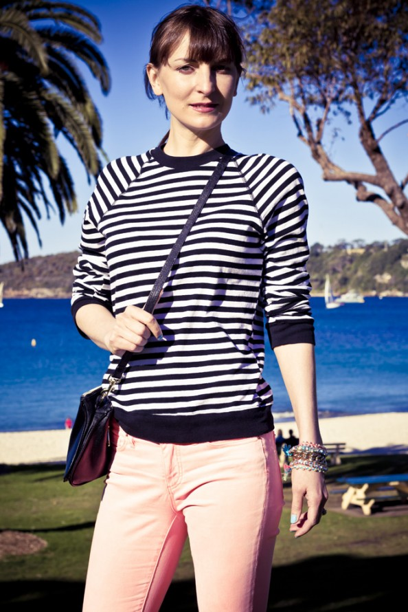 striped bassike top, summer fashion