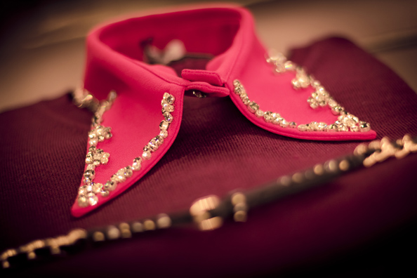 embellished collar, miu miu