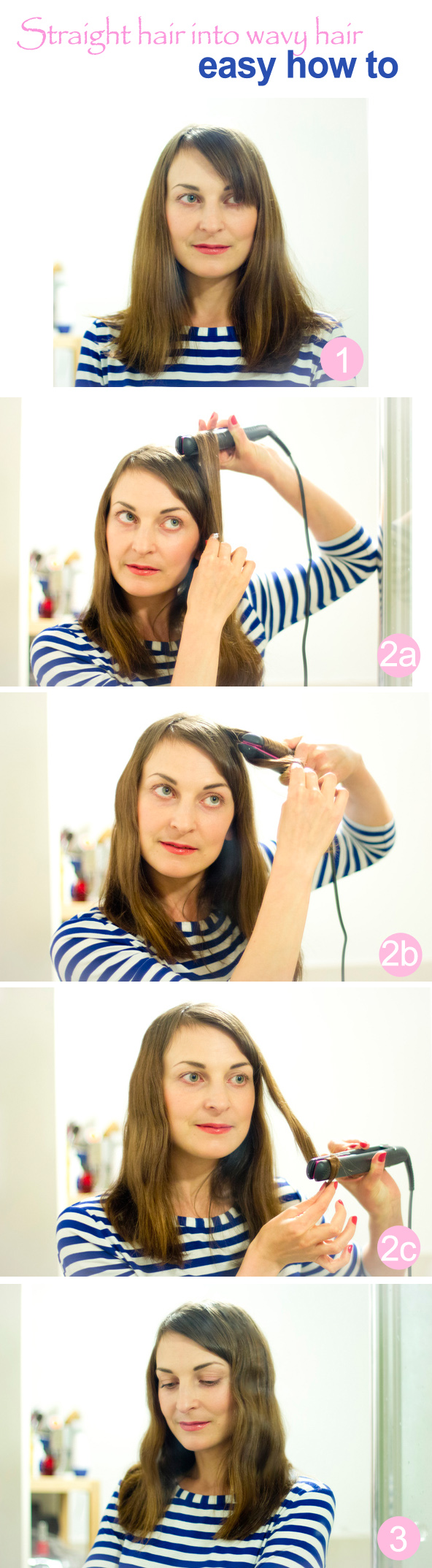 wavy hair how to tutorial for straight hair