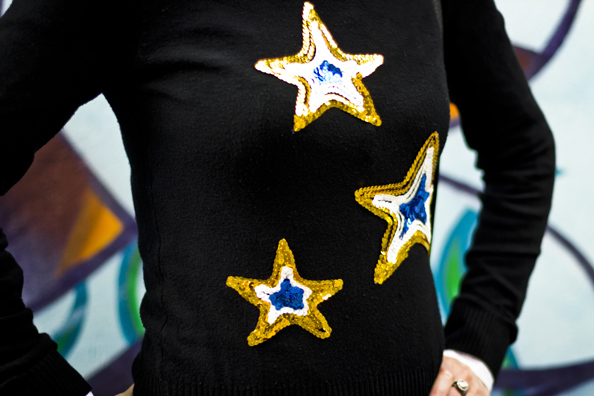 diy sequinned sweater