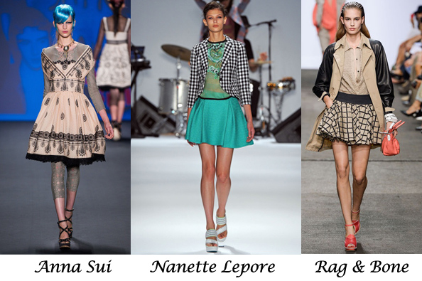 fashion trend spring summer 2013, rag&bone, full skirt, anna sui