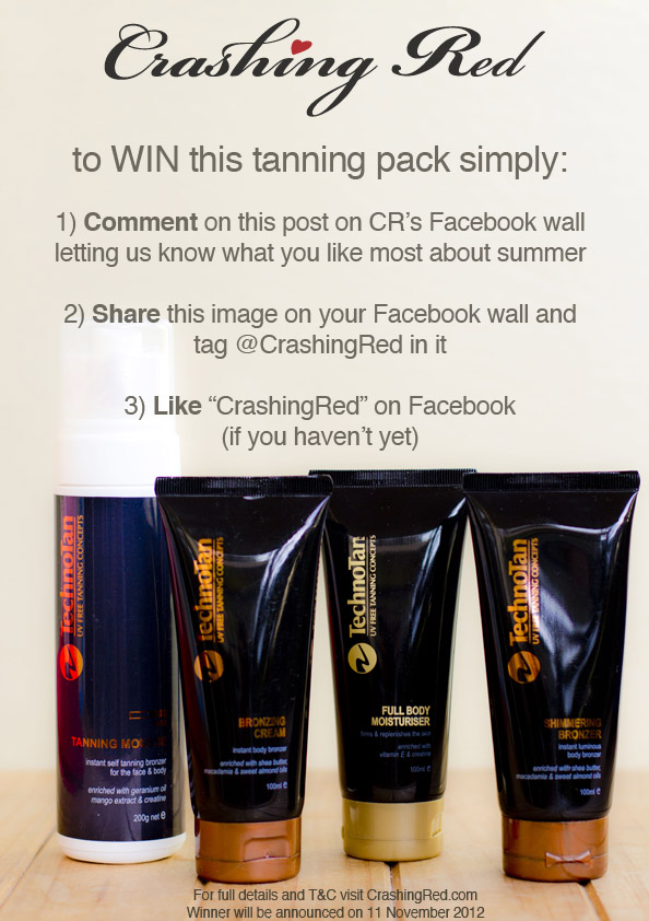 giveaway techno tan tanning pack