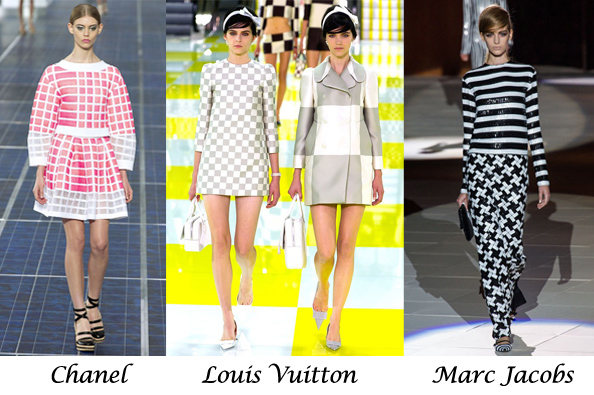 summer 2013 fashion trends, check print, louis vuitton