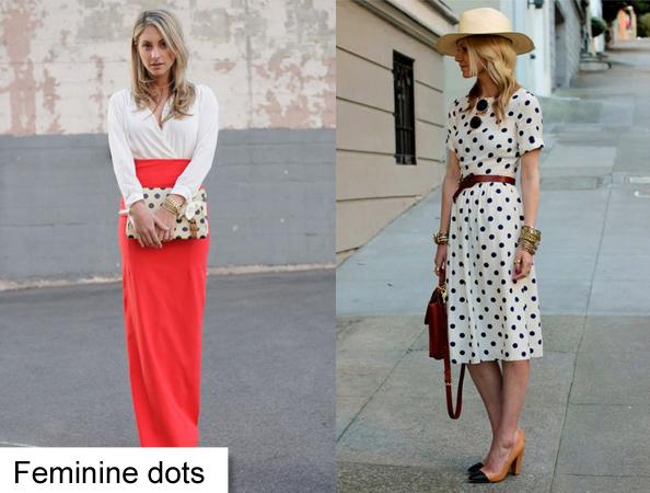 feminine polka dot outfit