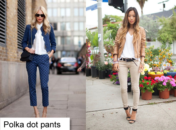 polka dot pants how to wear