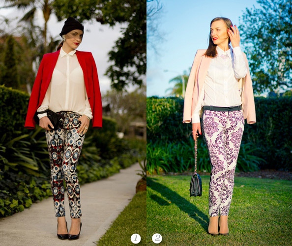 printed pants best outfits 2012
