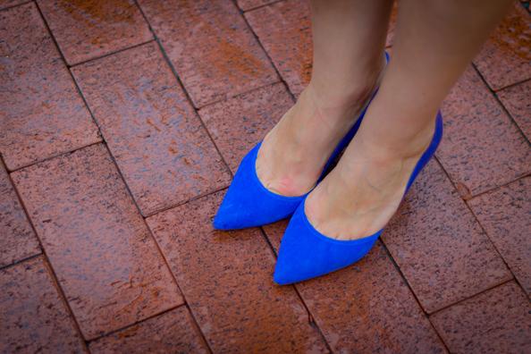 bright blue heels