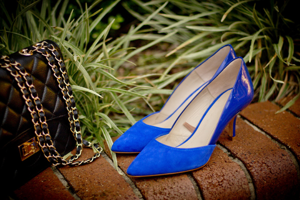 electric blue zara heels