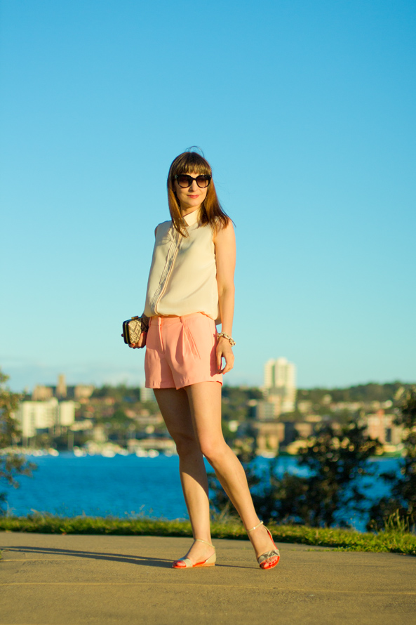 pink shorts for summer