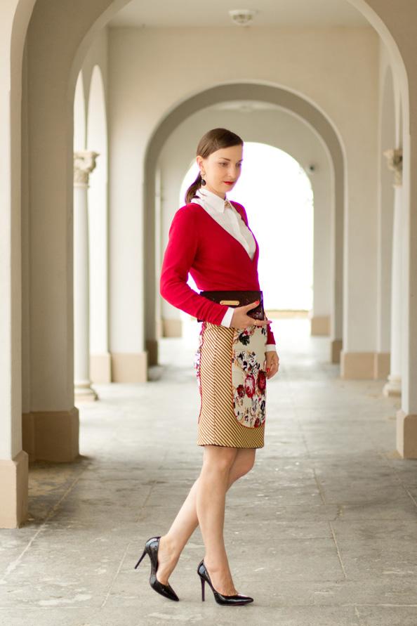 elegant ladylike outfit floral print
