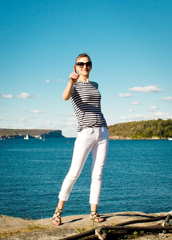 AG Stilt jeans, summer outfit