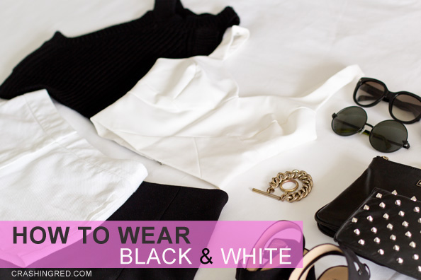 how to wear black and white 1