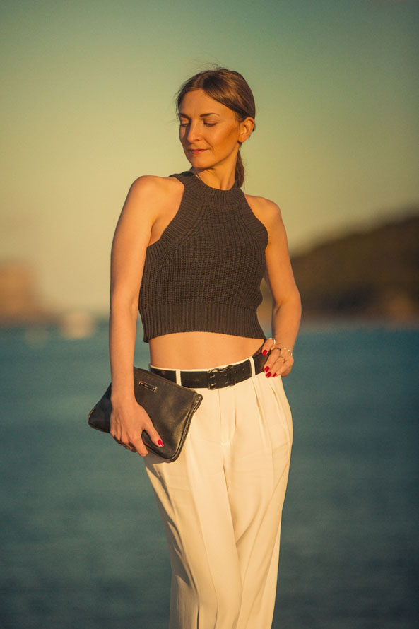 cropped top outfit, summer style