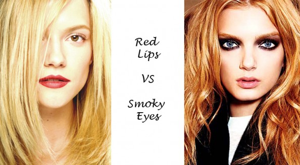 red lips smoky eye makeup beauty blog crashingred